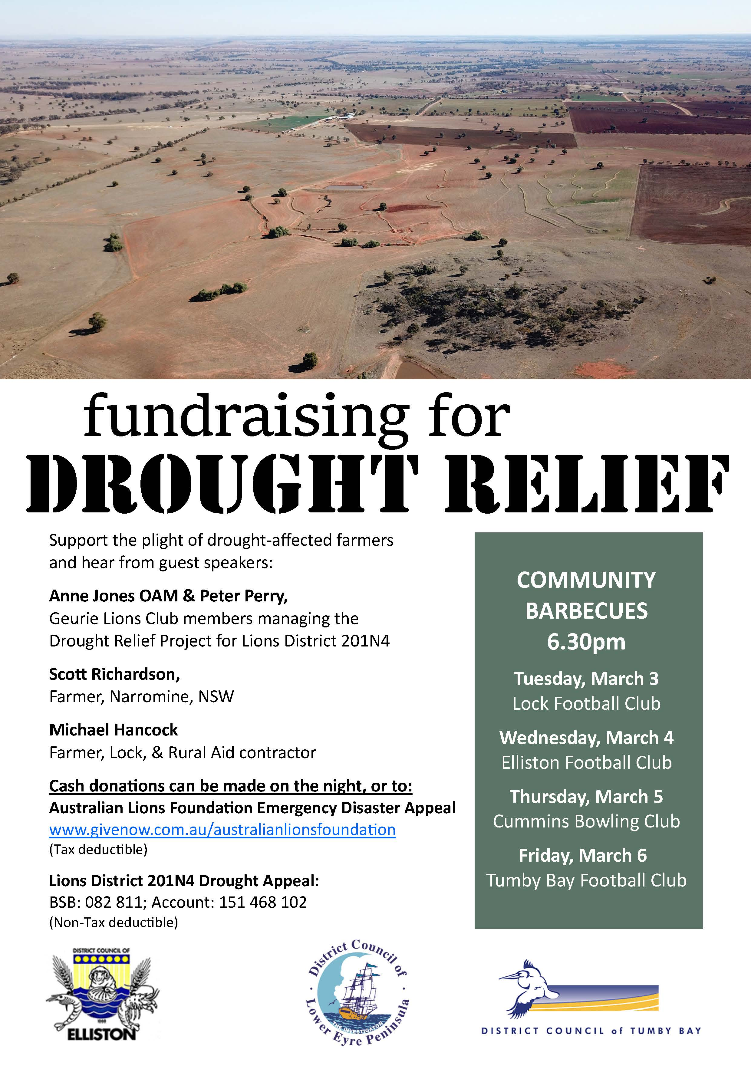 Drought Fundraiser Poster